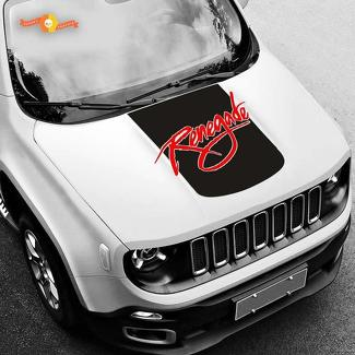 Jeep Renegade Custom Hood Blackout Vinyl Decal