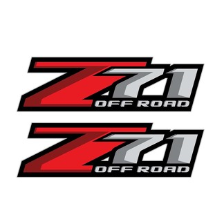 Set of 2: Z71 Off Road decal 2017 Chevrolet Silverado GMC Sierra pickup truck