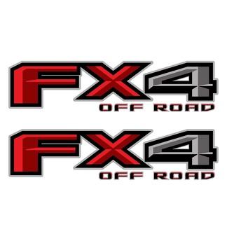 Set van 2: 2018 Ford F-150 FX4 Off Road Vinyl Decal voor Pickup Truck Neffen
