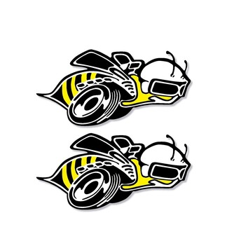 Set of 2: Dodge Super Bee vinyl decal full color over laminated for car & trucks