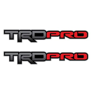 Set of 2: TRD PRO Toyota Tacoma Tundra pickup truck bedside full color decal