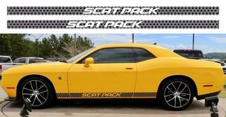 2X Dodge Challenger Scat Pack Rocker Panel Aufkleber Stripe Vinyl Graphics Scatpack