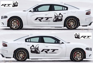 2X Dodge Charger RT Scat Pack decals Stripe Vinyl Graphics Kit 2011-2018