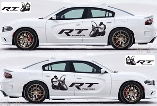 2X Dodge Charger RT Scat Pack decals Stripe Vinyl Graphics Kit 2011-2020 Scatpack
