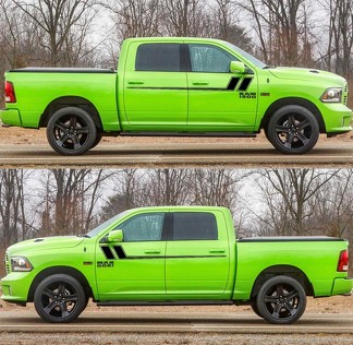 2X Decal Sticker Side Door Stripes for Dodge Ram 2009-2017 1500 2500 Off-Road