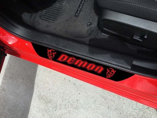 2X Dodge Challenger SRT Demon Type Style Vinyl Door Sill Decals