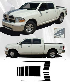 3x Dodge Ram 1500 2500 Hood side bed Vinyl Decals graphics rally sticker kit