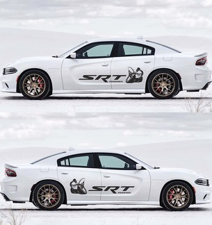 2X Dodge Charger Scat Pack decals  Stripe Vinyl Graphics Kit 2011-2018