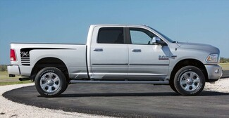 2x Dodge Ram 1500 2500 side bed Vinyl Decals graphics rally sticker kit
