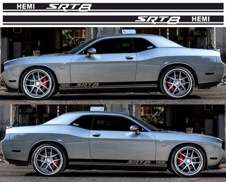 Dodge Challenger SRT8 Rocker Panel decals Stripe Vinyl Graphics 2009-2018