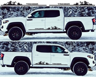2X Toyota Tacoma 2016 side skirt Vinyl Decals graphics rally sticker kit