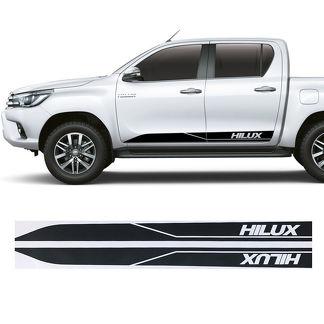 2x Toyota Hilux Seitenschweller Vinyl Decals Grafik Rallye Aufkleber