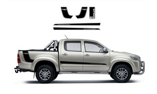 5X Toyota Hilux Trd side bed Vinyl Decals graphics rally sticker kit