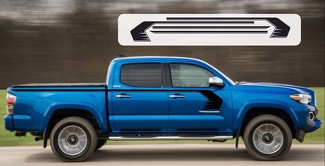 Toyota Tacoma 2015-2018 STORM Upper Door Vinyl Graphics Kit Decals Stripes