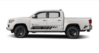 Toyota Tacoma 2015-2018 side Vinyl graphics decals kit stripe stickers