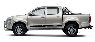 2x Toyota Hilux side skirt Vinyl Decals  graphics rally sticker