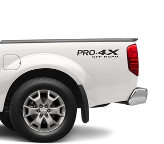 2X Nissan Frontier Pro-4X Vinyl Both Side Stickers Decals 4 x 4 Graphics nismo