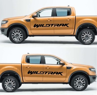 2X FORD RANGER Wildtrak Vinyl Doors Sticker Decals Graphics 2016-2018