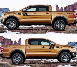 2X Decal Sticker Side Door Stripes for Ford Ranger 2015-2019