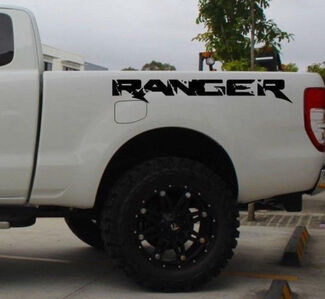 2X Ford Ranger bed side Vinyl Decals graphics rally stripe