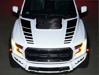 Ford Raptor F150 SVT Hood Vinyl Decals graphics kit stripe 2016 - 2018