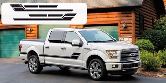 Ford F-150 Door Hockey Stick ELIMINATOR Vinyl Graphics Decals Stripes 2015-2018