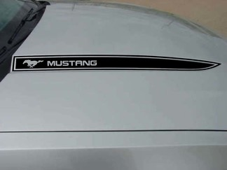 Ford Mustang Hood Spear Graphics Kit Decals Trim Emblemen Logo 2010-2014