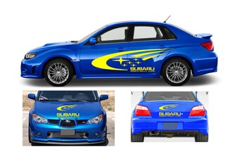 Subaru impreza wrx world rally team kit vinyl graphics logo decals