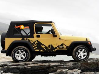 JEEP WRANGLER (1999-2006) CUSTOM VINYL DECAL KIT - MOUNTAINS