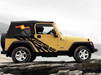 JEEP WRANGLER (1999-2006) CUSTOM VINYL WRAP KIT - WRANGLER TORN