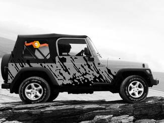 JEEP WRANGLER (1999-2006) CUSTOM VINYL DECAL WRAP KIT - BURST