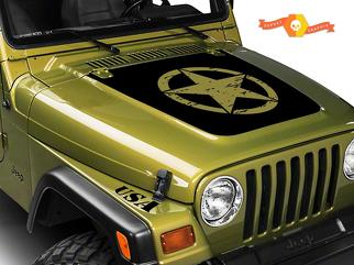 JEEP WRANGLER (1999-2006) CUSTOM VINYL WRAP KIT - MILITARY KIT