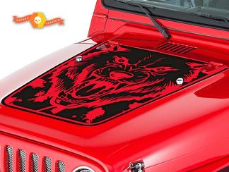 JEEP WRANGLER (1999-2006) CUSTOM VINYL HOOD DECAL KIT - WOLF