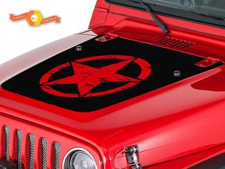 JEEP WRANGLER (1999-2006) CUSTOM VINYL HOOD DECAL KIT - DAMAGED STAR