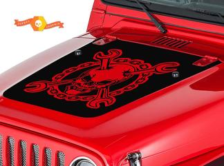 JEEP WRANGLER (1999-2006) CUSTOM VINYL HOOD DECAL KIT - SKULLWRENCH