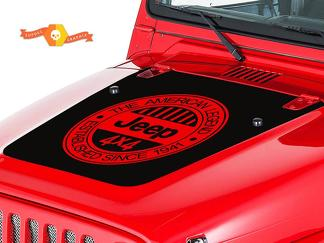 JEEP WRANGLER (1999-2006) CUSTOM VINYL HOOD DECAL KIT - AMERICAN LEGEND