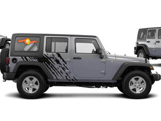 JEEP WRANGLER (2007-2016) 4-DOOR CUSTOM VINYL DECAL KIT - SPLASH