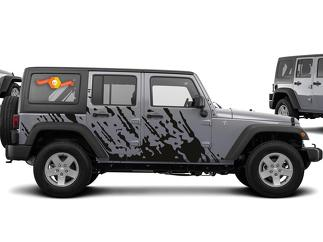 JEEP WRANGLER (2007-2016) 4-DOOR CUSTOM VINYL DECAL KIT - BURST