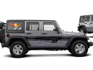 JEEP WRANGLER (2007-2016) 4-DOOR CUSTOM VINYL DECAL KIT - OFF ROAD STRIPE