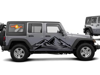 JEEP WRANGLER (2007-2016) 4-DOOR CUSTOM VINYL DECAL KIT - TREK