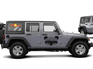 JEEP WRANGLER (2007-2016) CUSTOM VINYL DECAL KIT - SIN CITY