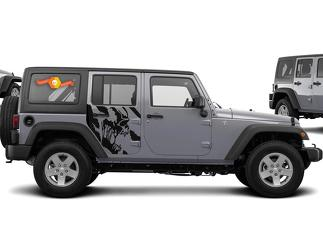 JEEP WRANGLER (2007-2016) 4-DOOR CUSTOM VINYL DECAL KIT - SCREAM