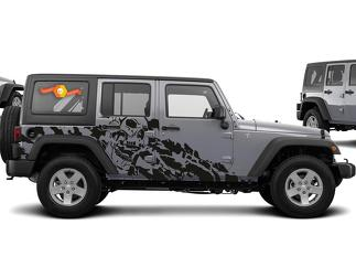 JEEP WRANGLER (2007-2016) 4-DOOR CUSTOM VINYL DECAL KIT - NIGHTMARE