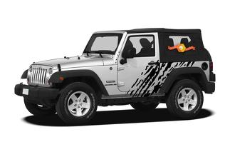 JEEP WRANGLER (2007-2016) 2-DOOR CUSTOM VINYL DECAL WRAP KIT - SPLASH