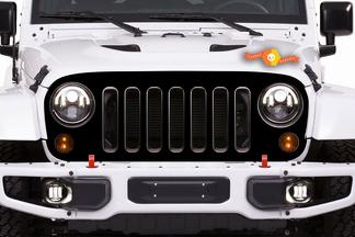 JEEP WRANGLER (2007-2016) 4-DOOR CUSTOM VINYL DECAL KIT - GRILLE SKIN