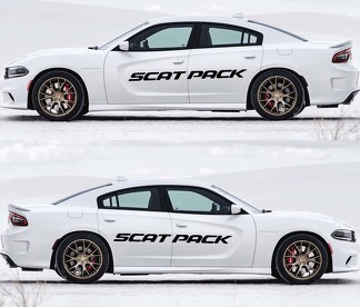 2X Dodge Charger Scat Pack decals Vinyl Graphics Kit 2011-2020 Scatpack