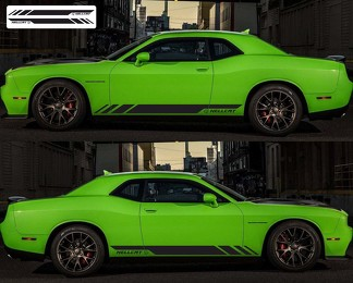 2X DODGE CHALLENGER Hellcat Side Vinyl Decals graphics rally sticker 2009 -2018
