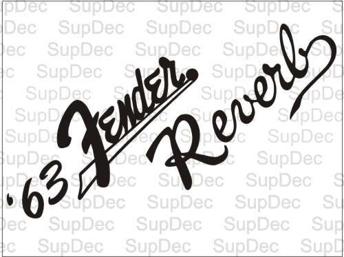 `63 Fender reverb decal sticker