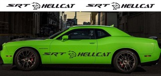 2X Dodge Challenger SRT Hellcat 2009 - 2018 Seitlicher Vinyl-Aufkleberstreifen