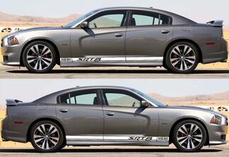 Dodge Charger SRT 8 / HEMI Rocker Panel Aufkleber Stripe Vinyl Graphics 2011-2018